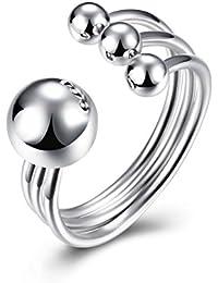 ischmuck bola de plata de ley 925anillo de plata perla Perlas Ajustable Tamaño Boda alianzas Polished abierto Mujer