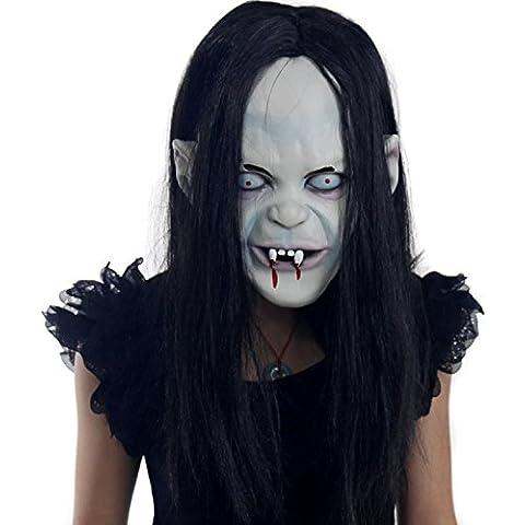 Rubility® Máscaras Scarry Japón Sadako cara Eco-friendly material máscara de Halloween Horror Sadako Pullover Máscara