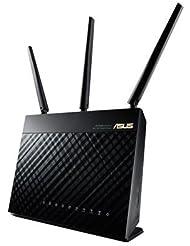 Asus RT-AC68U AC1900 Black Diamond Dual-Band Power WLAN Router (802.11 a/b/g/n/ac, Gigabit LAN/WAN, USB 3.0, Print FTP UPnP VPN Server, IPv6, SSID, AiRadar)