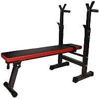 Homgrace Banco de Pesas Maquina de Fitness Banco de Musculación Plegable, Ideal para Entrenamiento en Gimnasio y en casa