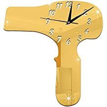 SOMIER creativo habitación de los Niños Salón gästezimmer habitaciones casa decoración hogar decoración espejo superficie Reloj Reloj de pared Mirror Wall Clock secador Golden