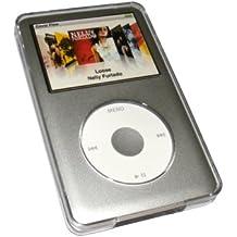 igadgitz Claro - Funda carcasa dura para Apple iPod Classic case cover + clip de cinturón