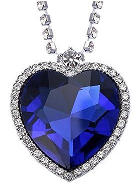 Celebrity Jewellery Herz des Ozeans Swarovski Elements Kristall Kettenanhänger Titanic Kette für Damen Geschenk