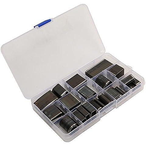 Malayas®Kit de 39 Perforadoras de agujeros para Funda de PU Cuero Piel de Móvil, hacer su propia funda de iphone 6 plus/6/5/4/ samsung cámara, Bricolaje de Cuero