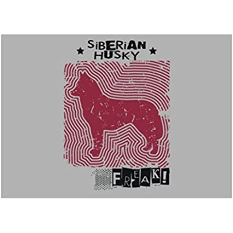 Teeburon Siberian Husky FREAK ! URBAN STYLE Sticker Pacchetto di 4 - Siberian Husky Adesivo