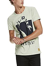 Scotch & Soda Men's Artwork Tee In Peached Jersey Quality T-Shirt