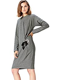 Marchio Amazon - find. Eyelet Detail Sweat, Vestito Donna