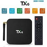 SreeTeK Tanix TX6 4GB 32GB Android 9.0 Mini PC Bluetooth 5.0 6K 1080P Smart TV Android TV Box 4K