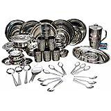 Mayur Stainless Steel Dinner Set (51 Pcs.)