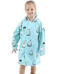 0e8b4ed702609a Mxssi Kids Leichte Outdoor Kapuzen Regenmantel Schultasche Abdeckung  Regenbekleidung Junge Mädchen Wasserdichte Regenjacke