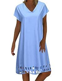 07f1ea3122 Vectry Vestidos De Fiesta para Bodas Talla Grandes Vestidos Playa Mujer Vestidos  Casuales Vestido Midi Vestido