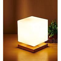 E27 Vetro Ghiaccio lampada da tavolo minimalista moderno stile caldo Soggiorno Camera da letto creativa Bianco Latte , b