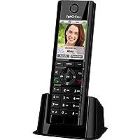 AVM 20002748 FRITZ!Fon C5 DECT-Komforttelefon (für FRITZ Box, hochwertiges Farbdisplay, HD-Telefonie, Internet-/Komfortdienste, Steuerung FRITZ!Box-Funktionen) deutschsprachige Version Schwarz