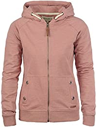 DESIRES Mandy Damen Sweatjacke Kapuzen-Jacke Zip-Hoodie aus hochwertiger Baumwollmischung