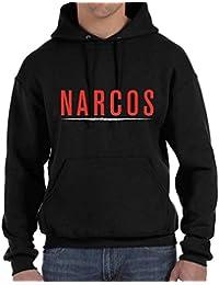 Desconocido Narcos - Sudadera con Capucha y bolsilos Canguro