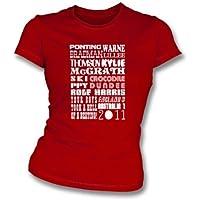 Medium esile 2011, colore - rosso della misura della ragazza dell'Inghilterra 3 Australia 1 delle ceneri