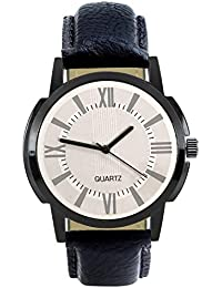 Style Keepers VAttractive Stylish Sport Look White Dial Stylish Black Leather Strap Strap Party Wedding | Casual...