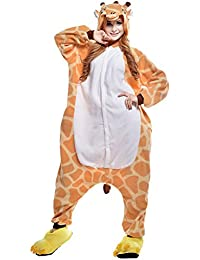 Amurleopard Déguisement Costume Unisexe Animal Combinaison Pyjama Nuit Vêtements Onesie Adulte