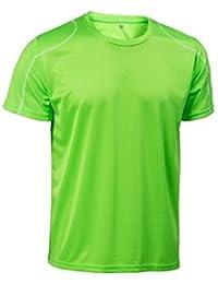 Asioka 75/09 Camiseta de Manga Corta, Unisex Adulto, Verde flúor, ...