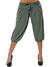 LaoZanA Pantalones Capri De Mujer 3 4 Harem Pantalones Color Sólido Casual  Shorts Deport Sueltos aba8d82a2ced