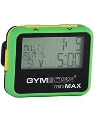 Gymboss miniMAX Minuteur d'intervalle et chronomètre – Coque Vert / Jaune softcoat