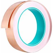 UKCOCO Cinta de lámina de cobre con adhesivo conductor EMI Blindaje adhesivo de doble cara para