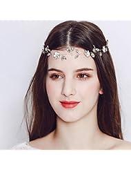Damen Foto Prop Kopfschmuck Retro Rose Kranz Krone Stirnband Dunkelrot Haarband