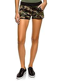 0ecb0391e3 oodji Ultra Mujer Pantalones Cortos Estampados de Algodón