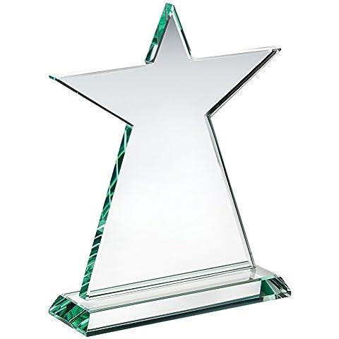 Star placa de vidrio trofeo, 9.5
