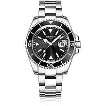 Blenheim London® Reloj Navegador Luminoso de hombre, Cristal de Zafiro, Resistente al Agua