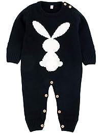 ff7fdca4bf Tejer Conejo suéter Mameluco para bebés niños niñas