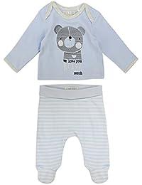 The Essential One - Bebé Niños Oso Camiseta y Pantalones Conjunto 2 pcs - Azul - TESS13