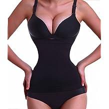 Waist Trainer vita Girdle modellante Bustini Corsetto Body Control Shapewear (Black, (Vita Cintura Di Panty)