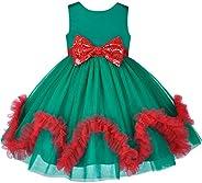 Sunny Fashion Vestito Bambina Fiore Blu con Cintura Nozze Festa Damigella d'Onore 4-12