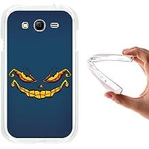 Funda Samsung Galaxy Grand Neo Plus, WoowCase [ Samsung Galaxy Grand Neo Plus ] Funda Silicona Gel Flexible Monstruo Halloween, Carcasa Case TPU Silicona - Transparente