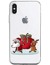 Oihxse Case Compatible con Samsung Galaxy A50s Funda Transparente Silicona Suave Carcasa Protectora Navidad Santa Deer Diseño de patrón Creativo Ultra Slim Flexible Cover