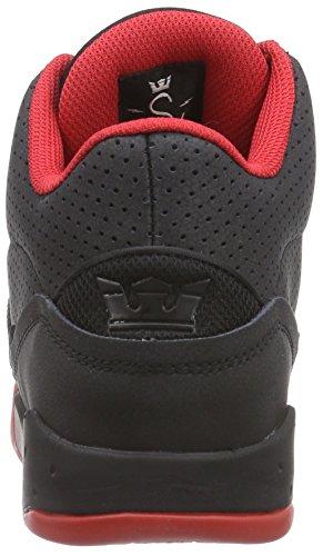 Supra ESTABAN Unisex-Erwachsene Hohe Sneakers Schwarz (BLACK / RED - RED   BKR)