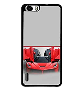 printtech Red Superfast Car Back Case Cover for Huawei Honor 6 ,Versions: - H60-L01 TDD LTE (Single SIM) - H60-L02 FDD&TDD LTE, HSDPA - H60-L04 FDD&TDD LTE, HSDPA (Single SIM) - H60-L12 FDD LTE, HSDPA, NFC - H60-L12 FDD LTE, NFC