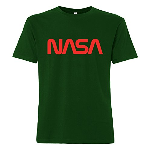 ShirtWorld NASA Worm Logo - T-Shirt Grün