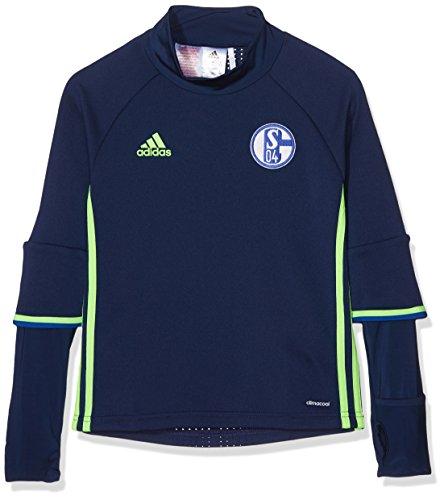 Adidas Schalke 04 TRG Top Y Sudadera, Azul/Verde (Azuosc/Versol), para niños de 9-10 años
