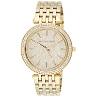 Michael Kors Womens Quartz Watch, Analog Display and Stainless Steel Strap MK3398