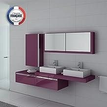 Amazon.fr : meuble salle de bain aubergine