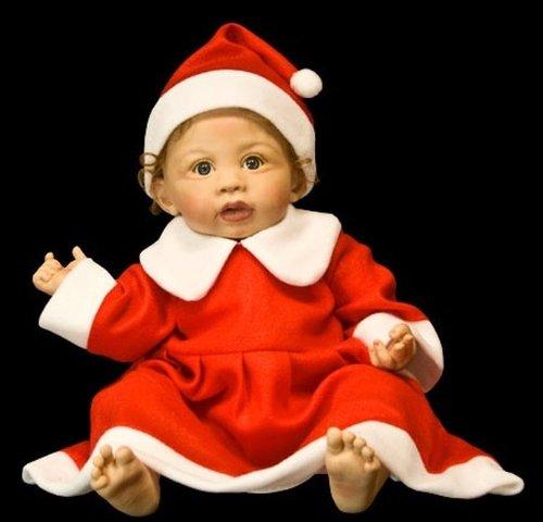 Nikolaus Kostüm Baby Mädchen - Kinder Weihnachtskostüm Mädchen 2 teilig Baby