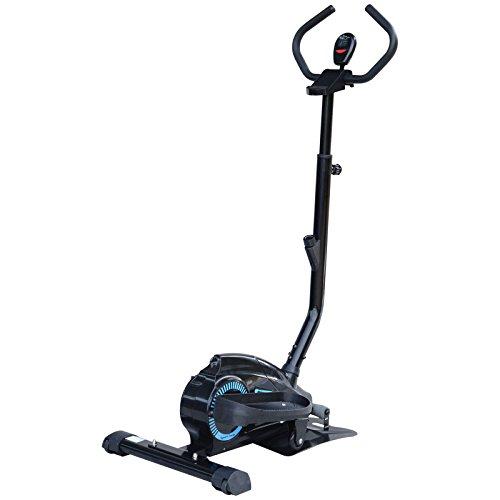 Homcom cyclette ellittica magnetica professionale fitness casa manubri regolabili acciaio 83 × 49 × 130-150cm