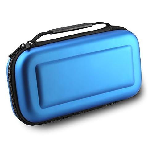 MallTEK Switch Case-Voyage de Transport pour Nintendo Switch avec 10 Slots Intégrés de Carte du Jeu, Housse Switch Rigide en EVA Coque de Protection Portable Anti-choc pour Nintendo Switch Manette & autre Accessoires (Bleu)