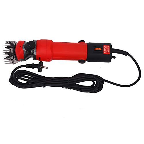 Cortadora de pelo eléctrica de 450 W para ovejas y cabras para animales de compañía con velocidad ajustable - Suministros de cizalla Alpaca Hair Cut Farm Machine Tool, hoja recta de 13 dientes,Rojo