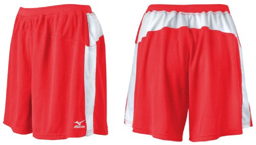 Mizuno Coupe ample volley-ball courte rouge/blanc