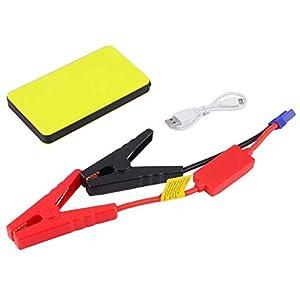 BIYI 12V 20000mAh Mini portátil multifuncional Car Jump Starter Power Booster Cargador de batería Cargador de arranque de emergencia amarillo