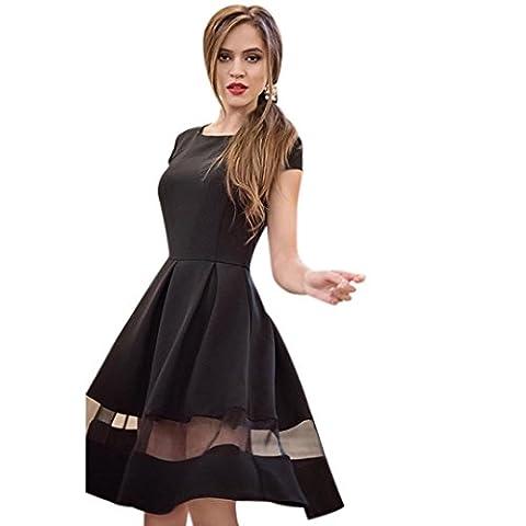 Women Dress, Familizo Ladies Knee-length Casual A-line Chiffon Dress (L,