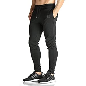 Brocki Herren JOGGER Hosen GYM Fitness Trainingsanzug Slim Fit Chinos